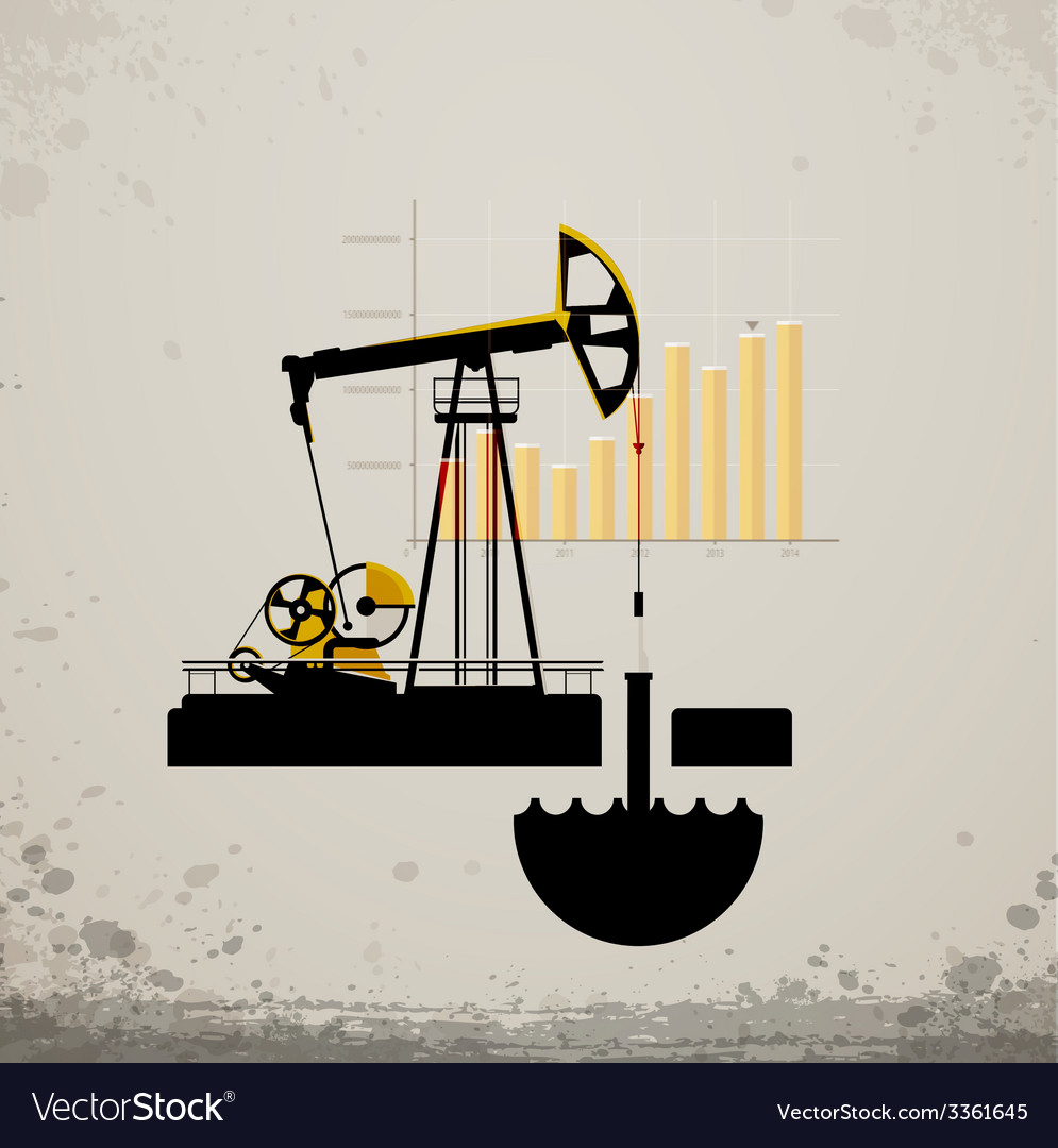 Oil pump jack vector | Price: 1 Credit (USD $1)
