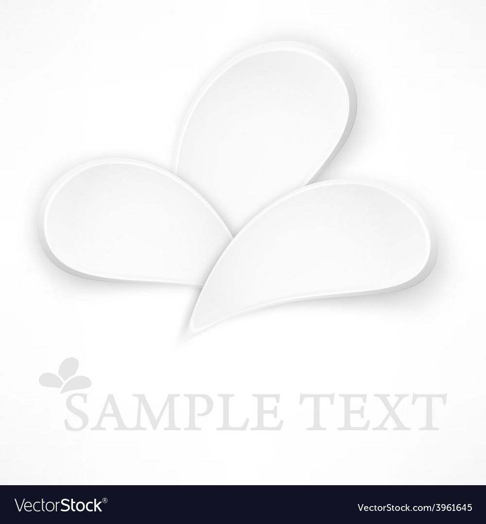 Petal design elements on white vector | Price: 1 Credit (USD $1)