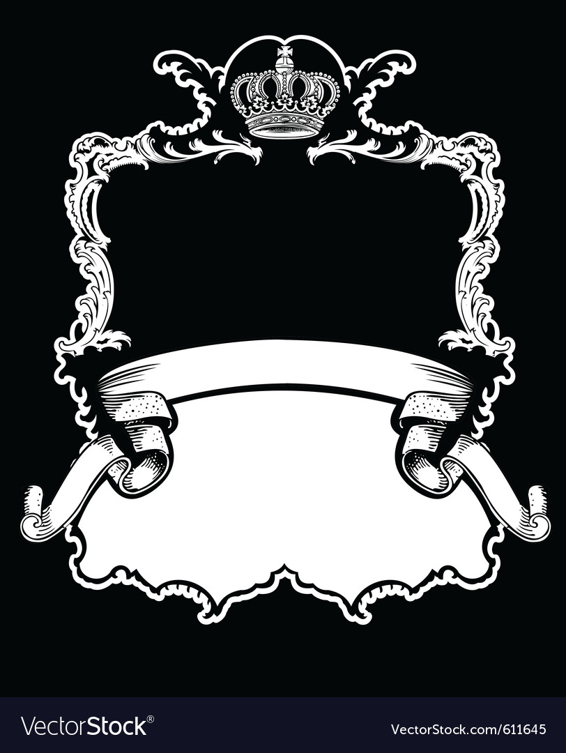 Royal crown vintage vector | Price: 1 Credit (USD $1)