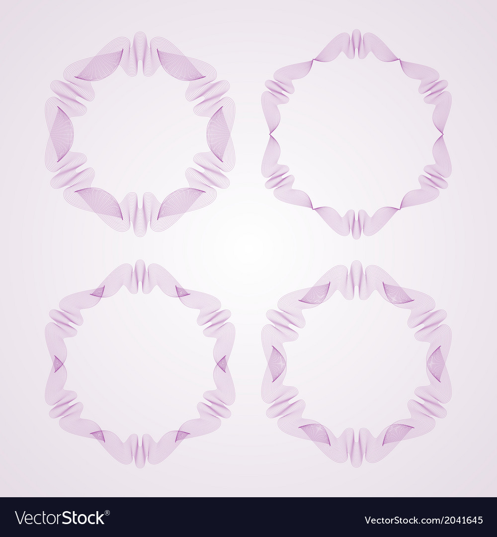 Set of round guilloche rosettes vector | Price: 1 Credit (USD $1)