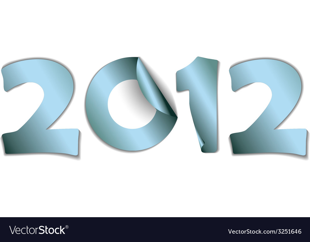 2012 made from blue stickers vector | Price: 1 Credit (USD $1)