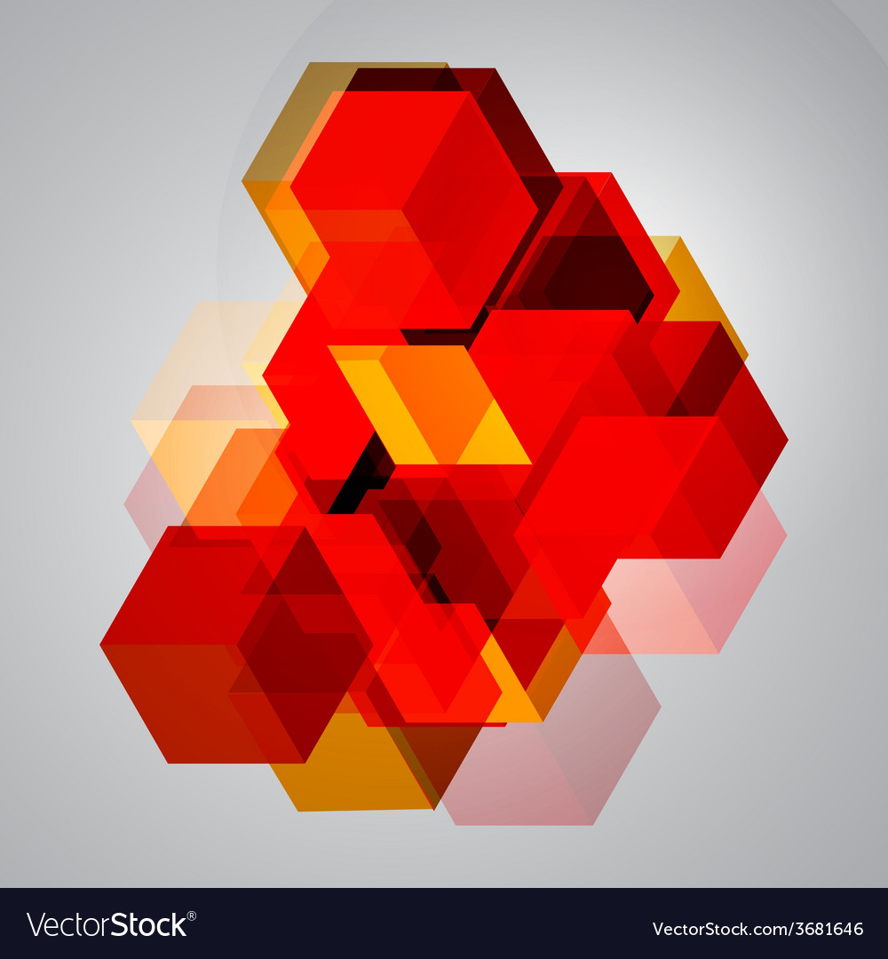 Abstract background of 3d cubes vector | Price: 1 Credit (USD $1)