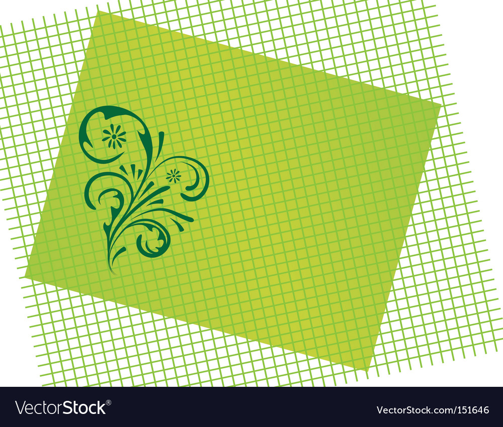 Abstract green background with curls vector | Price: 1 Credit (USD $1)