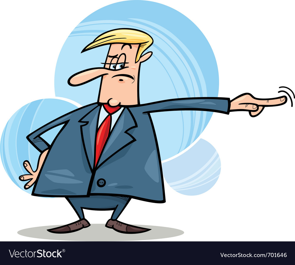 Angry boss firing somebody vector | Price: 1 Credit (USD $1)