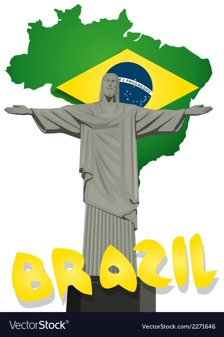 Brazil background vector | Price: 1 Credit (USD $1)