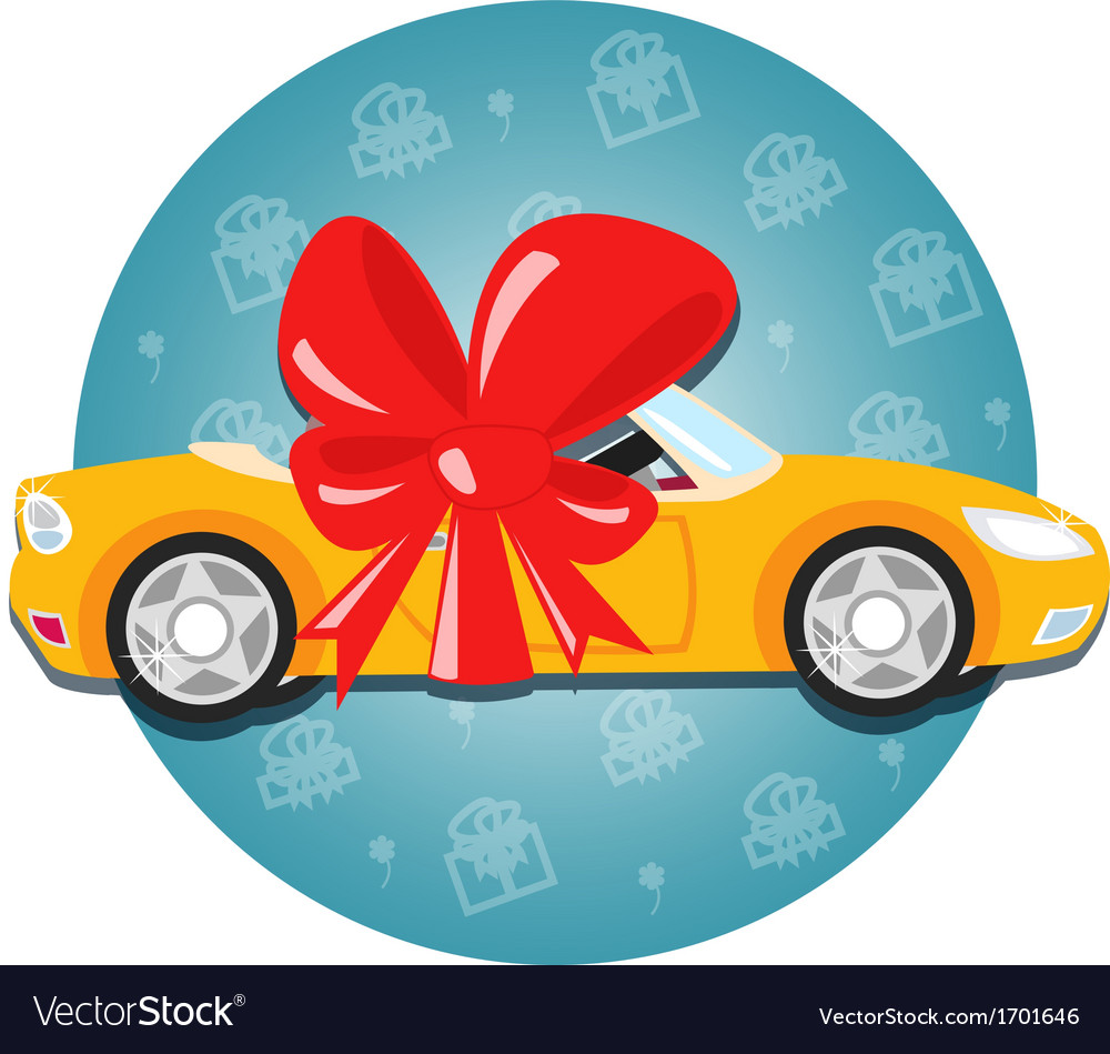 Car gift vector | Price: 1 Credit (USD $1)