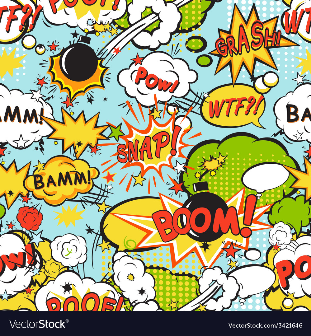 Comic boom seamless pattern vector | Price: 1 Credit (USD $1)