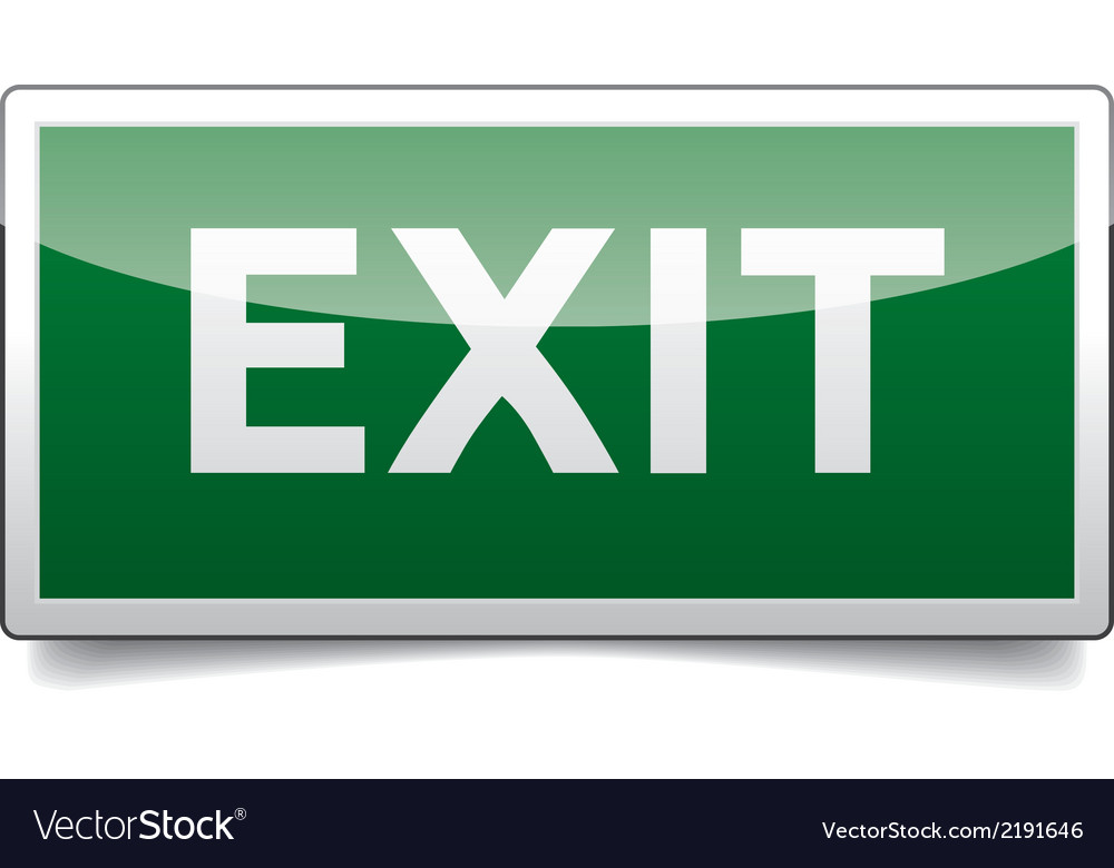 Danger exit sign solo vector | Price: 1 Credit (USD $1)
