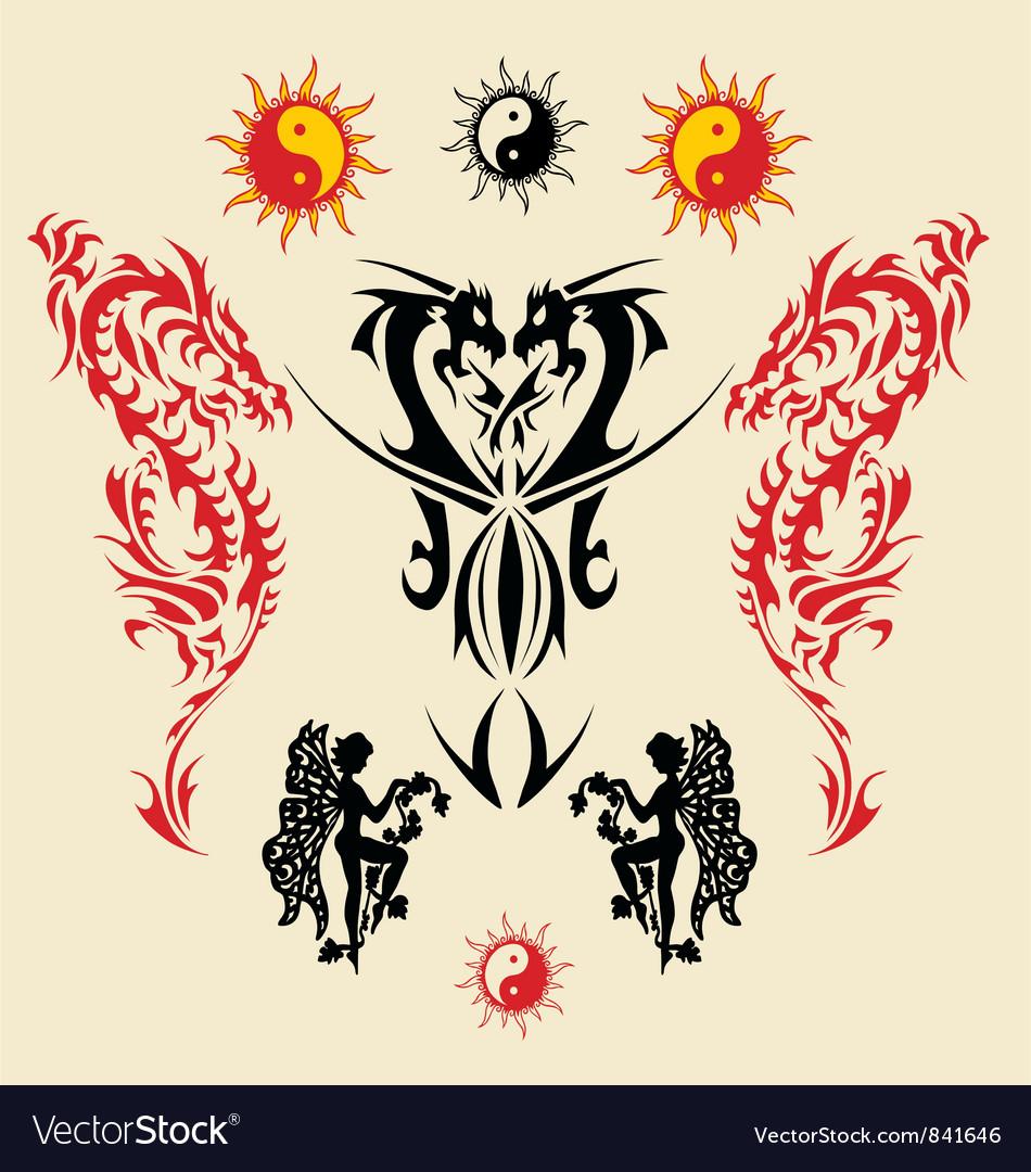 Dragon triball tatto vector   Price: 1 Credit (USD $1)