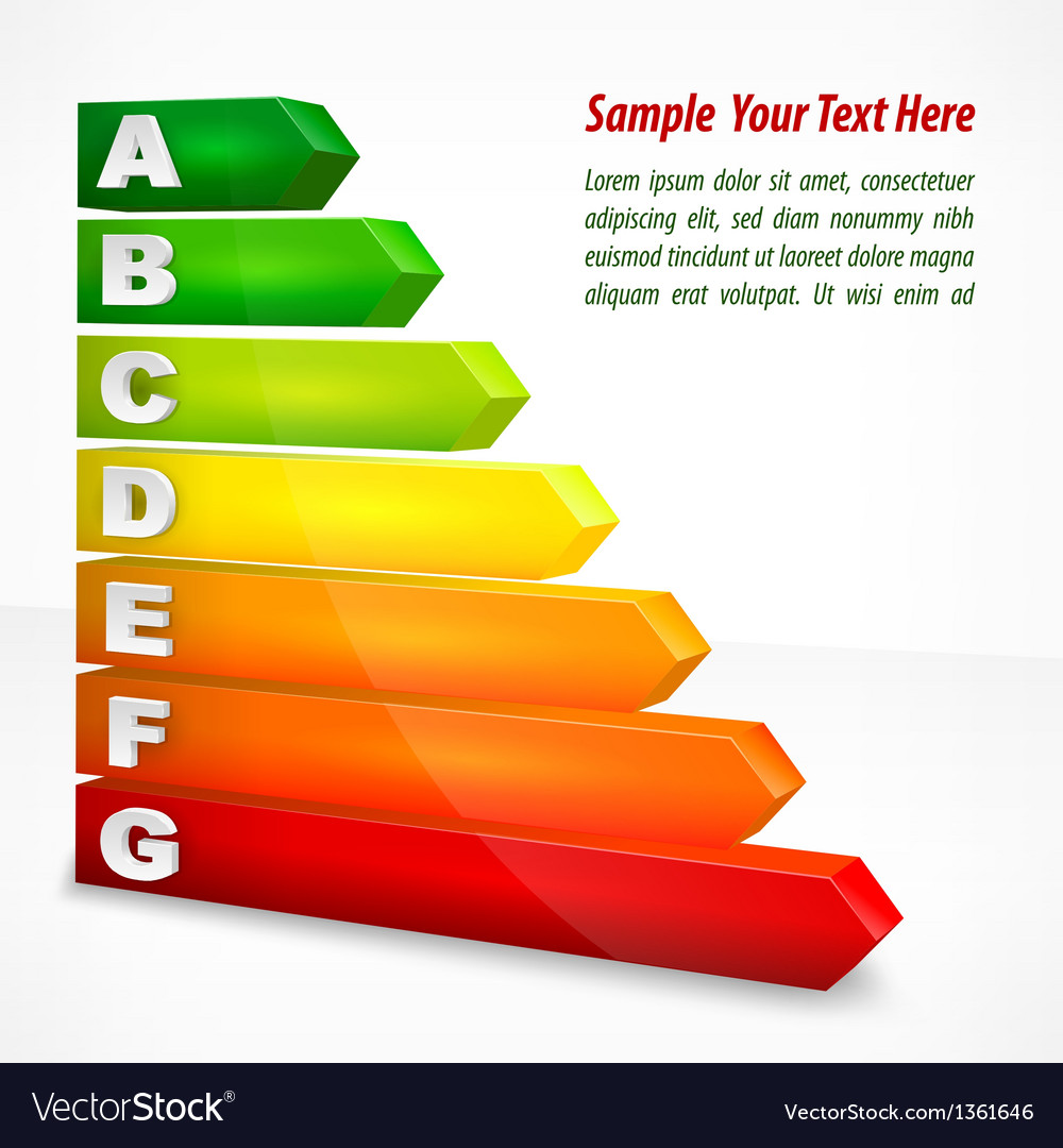 Energy efficiency rating vector | Price: 1 Credit (USD $1)