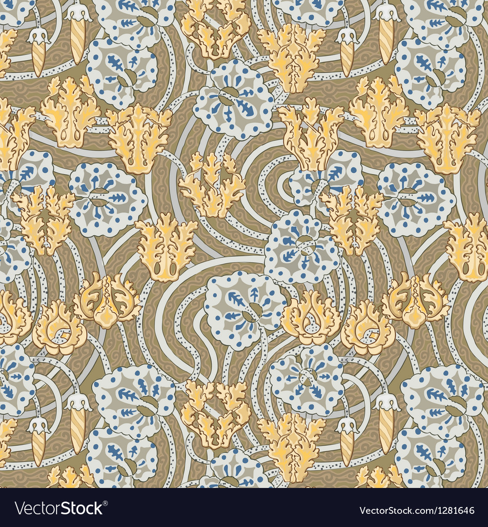 French floral pattern in modern style vector | Price: 1 Credit (USD $1)
