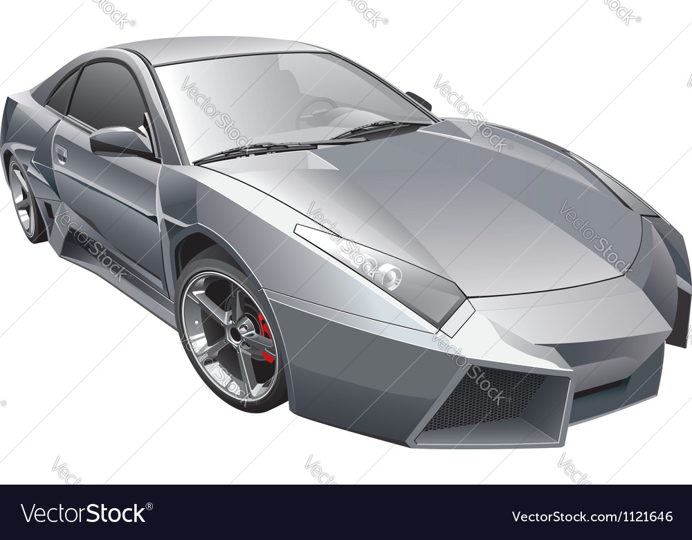 Futuristic car vector | Price: 3 Credit (USD $3)