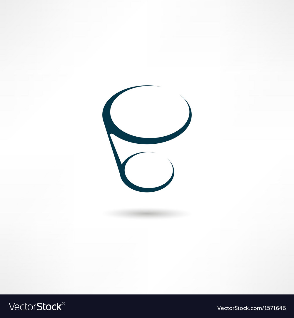 Glass icon vector | Price: 1 Credit (USD $1)