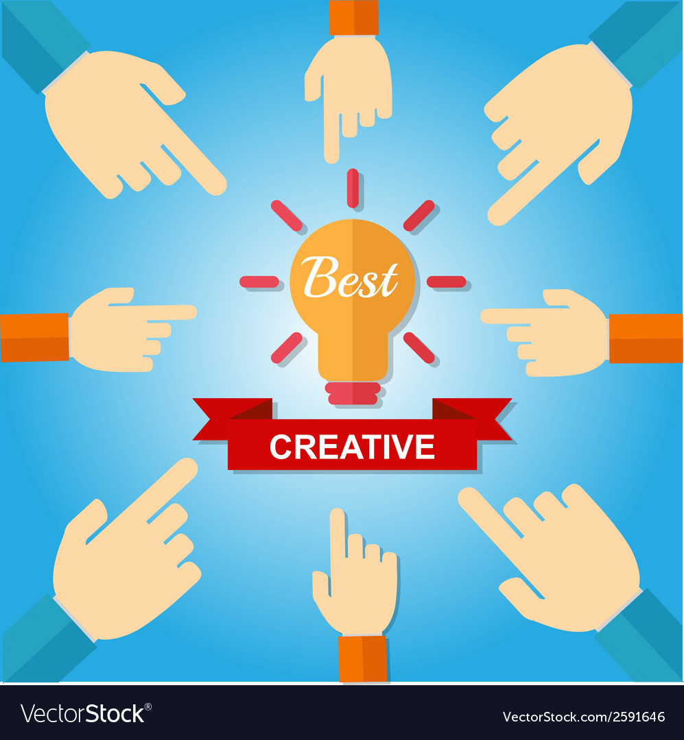 Hand point best creative vector | Price: 1 Credit (USD $1)