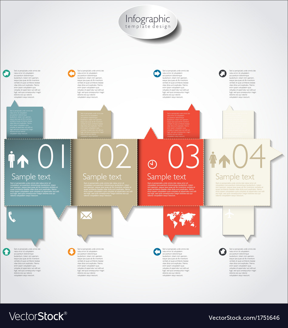Infographic modern template vector | Price: 1 Credit (USD $1)