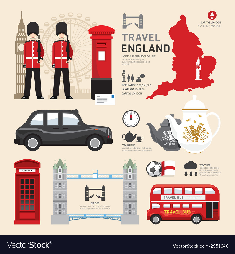 London united kingdom flat icons design travel vector | Price: 1 Credit (USD $1)