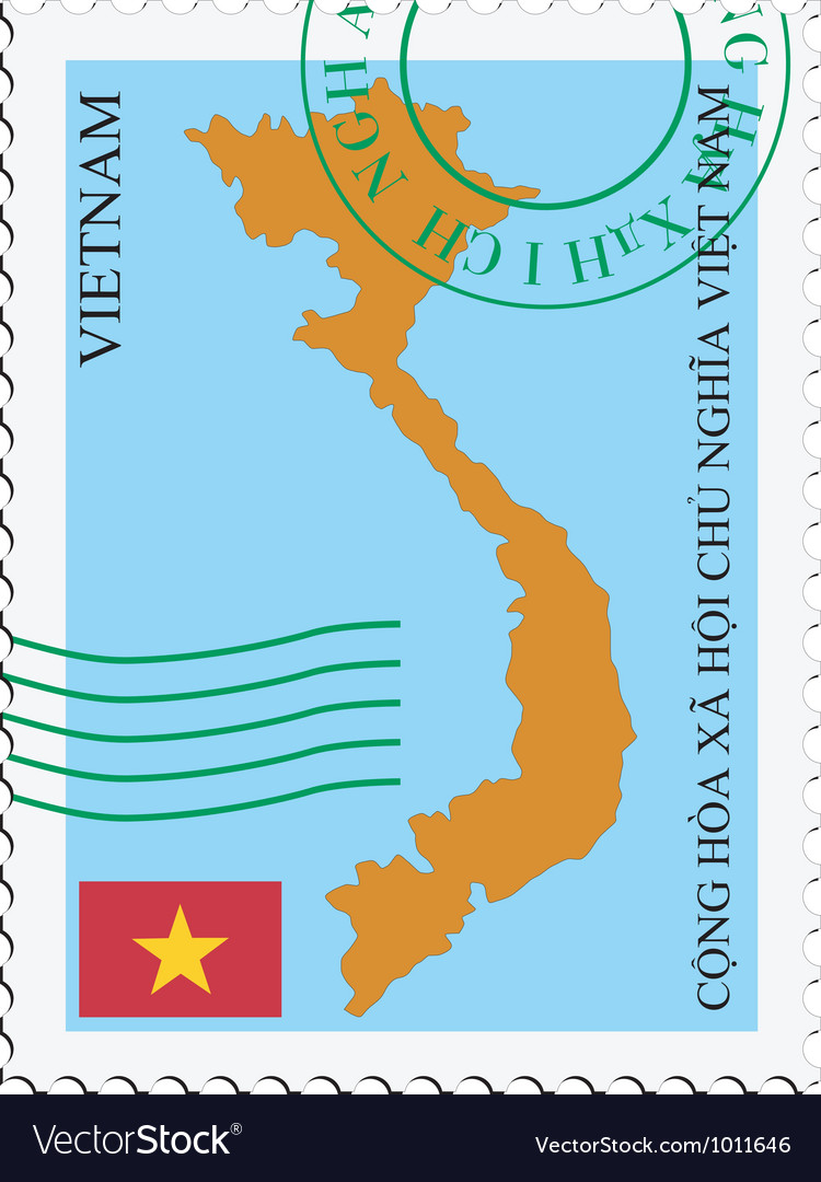 Mail to-from vietnam vector | Price: 1 Credit (USD $1)