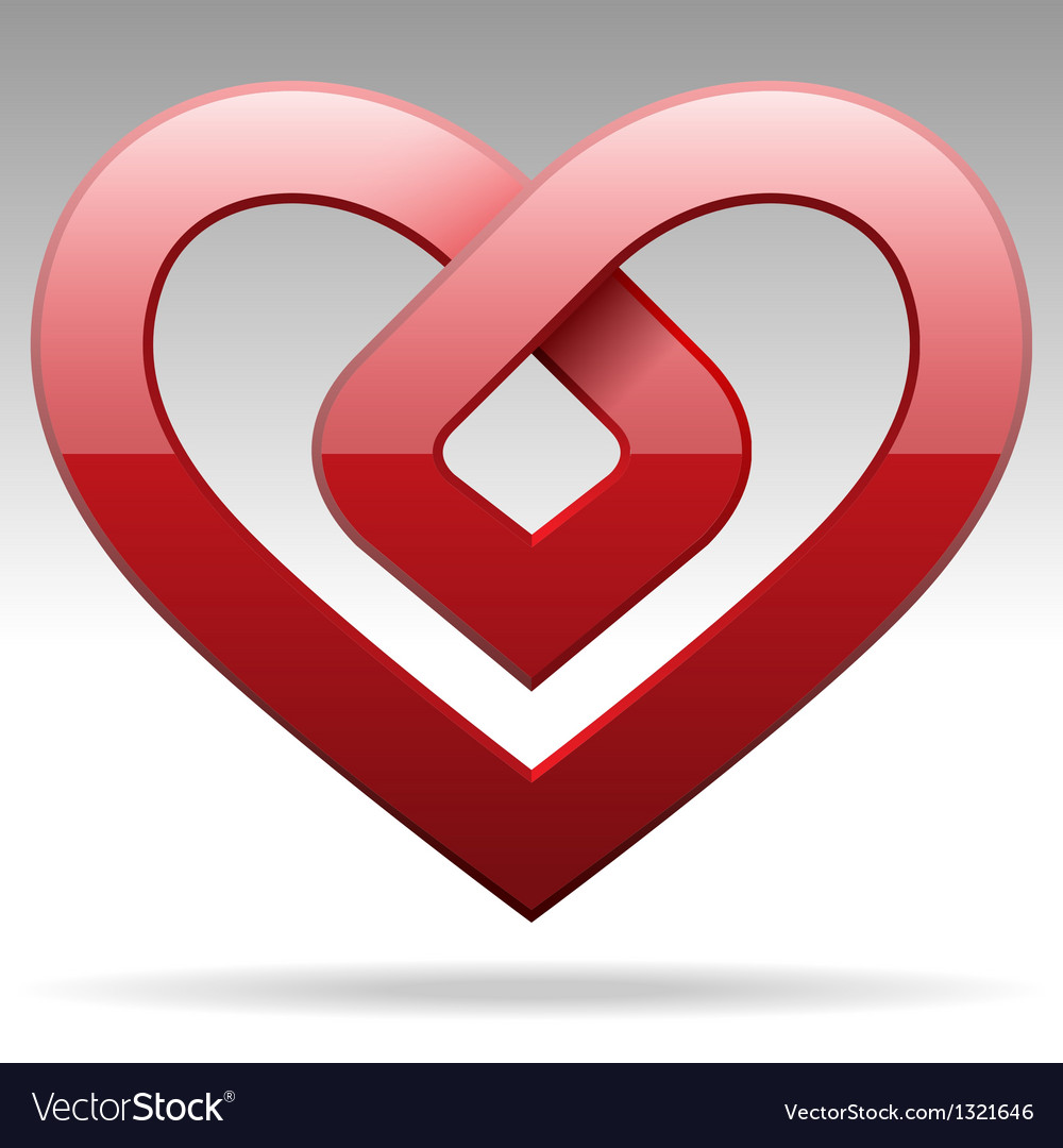 Metal stripe heart sign vector | Price: 1 Credit (USD $1)