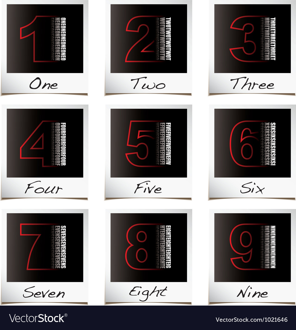 Photo numbers vector | Price: 1 Credit (USD $1)