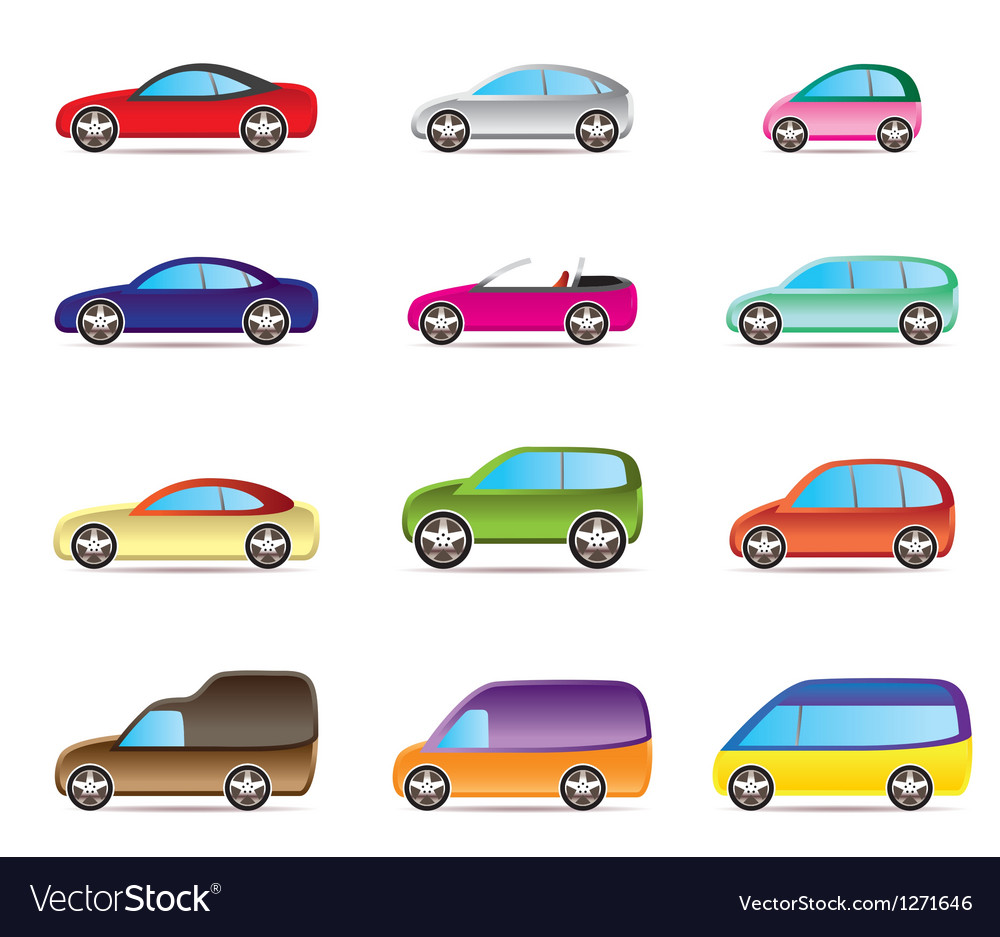 Popular types of cars vector | Price: 3 Credit (USD $3)