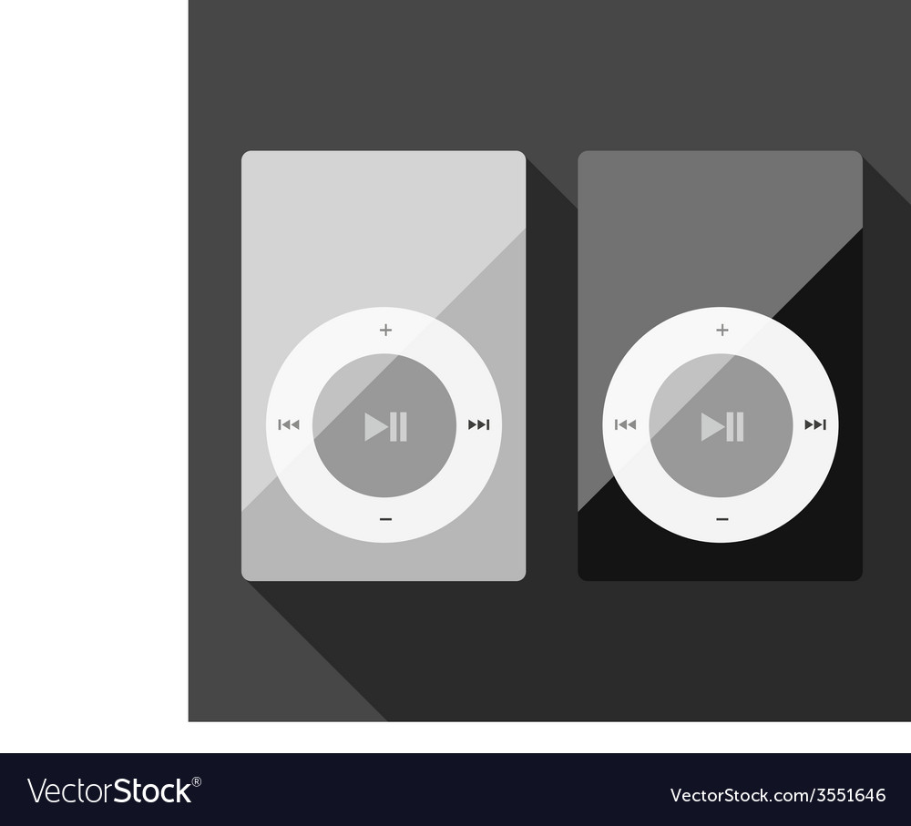 Realistic mp3 on grey background vector | Price: 1 Credit (USD $1)