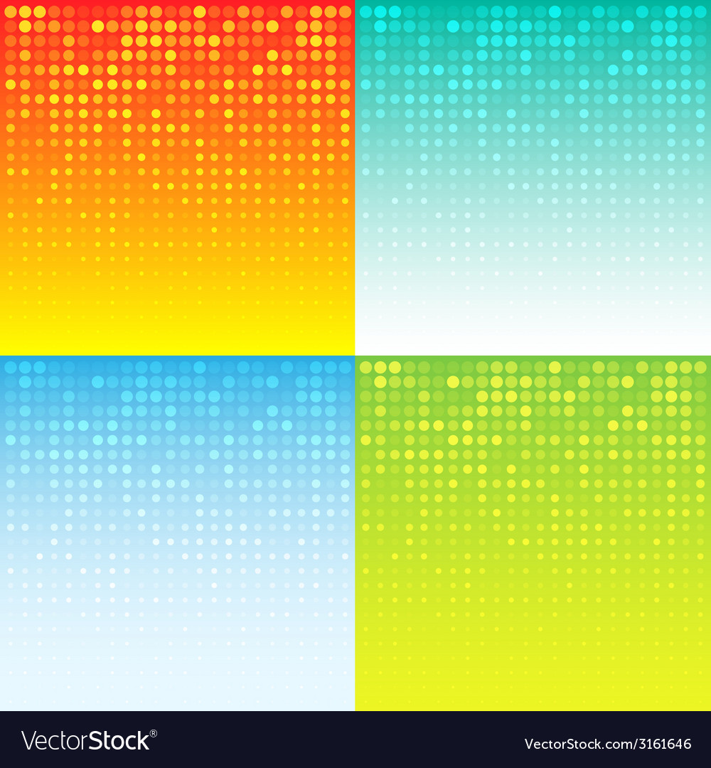Set of colorful abstract halftone background vector | Price: 1 Credit (USD $1)