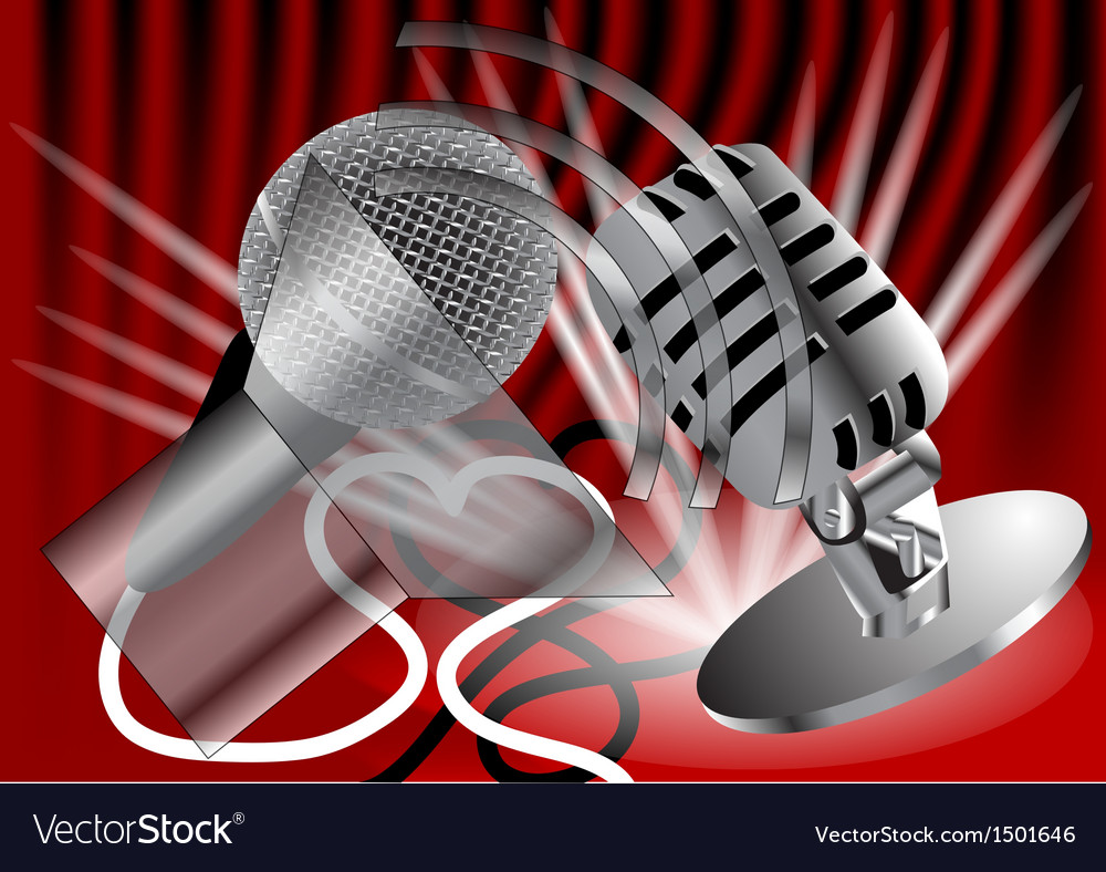 Two microphones vector | Price: 1 Credit (USD $1)