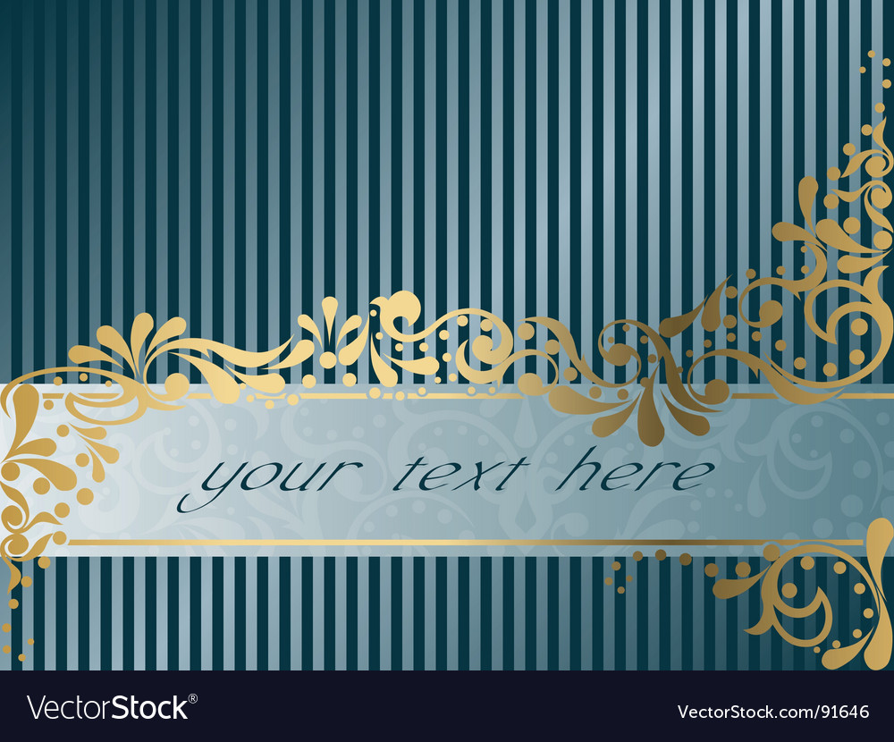Vintage victorian banner horizontal vector | Price: 1 Credit (USD $1)