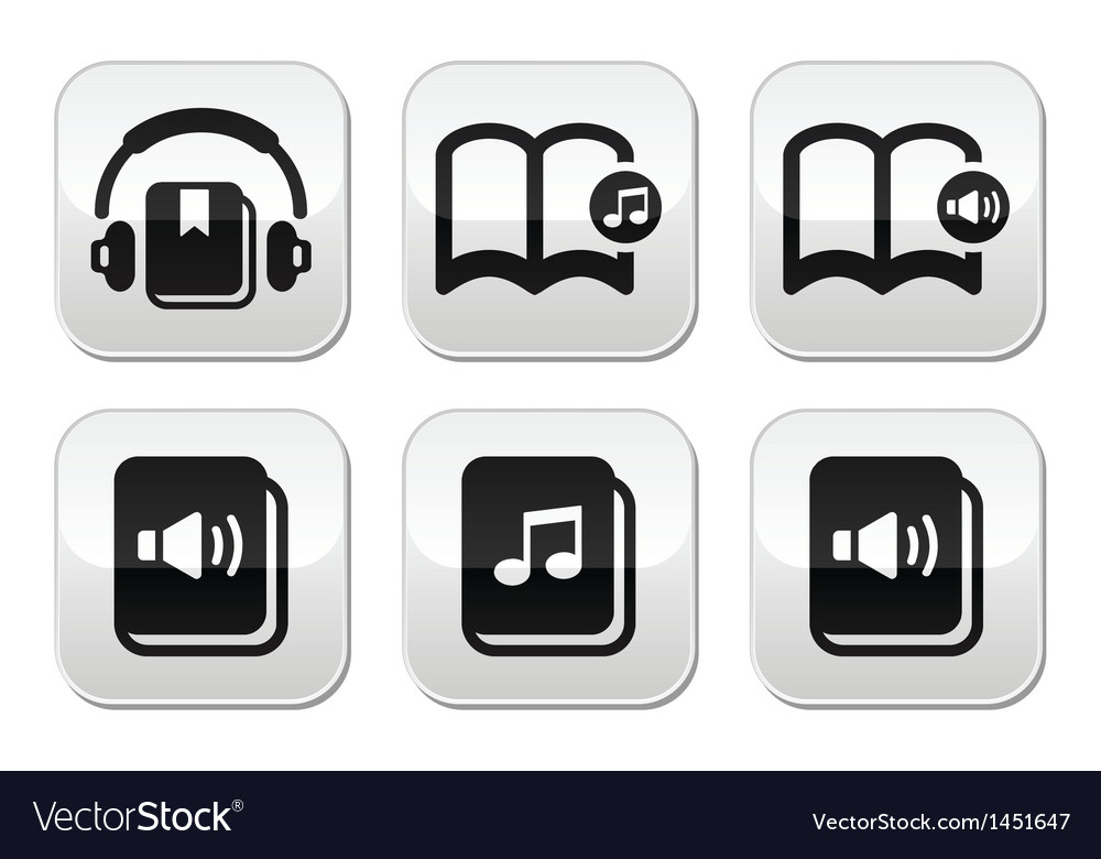 Audiobook buttons set vector | Price: 1 Credit (USD $1)