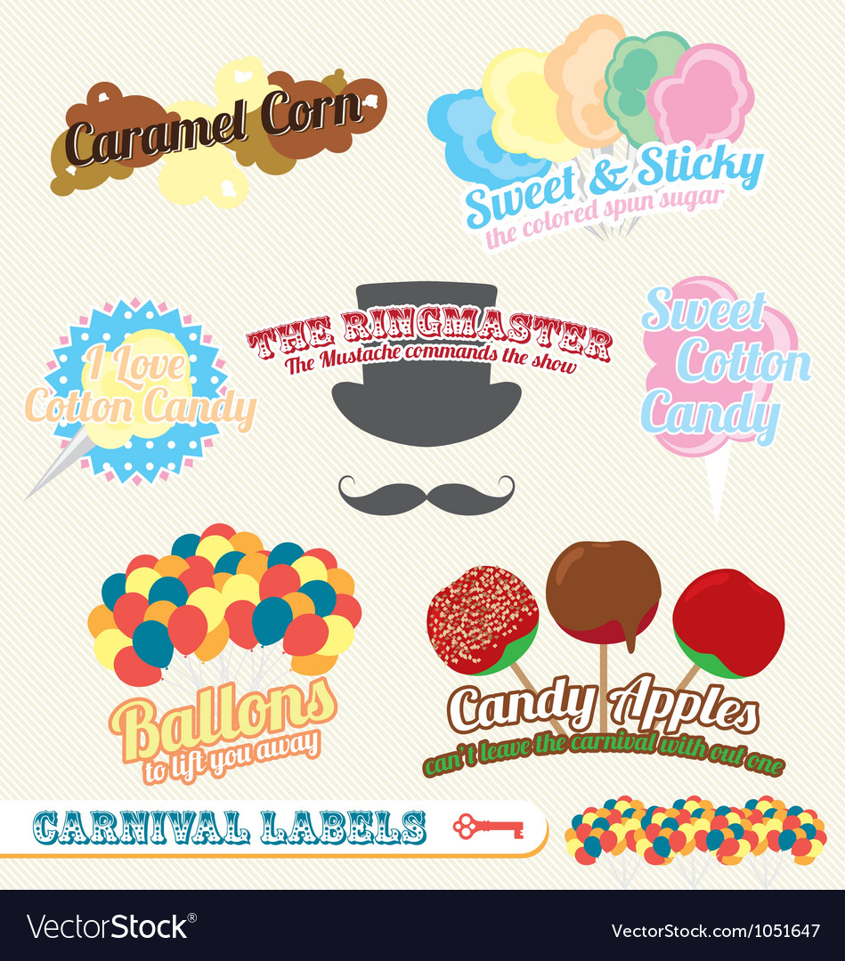 Carnival and fair labels vector | Price: 1 Credit (USD $1)