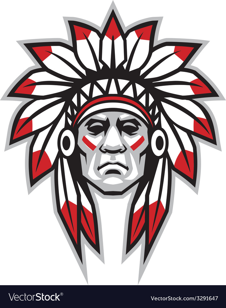 Indian chief vector
