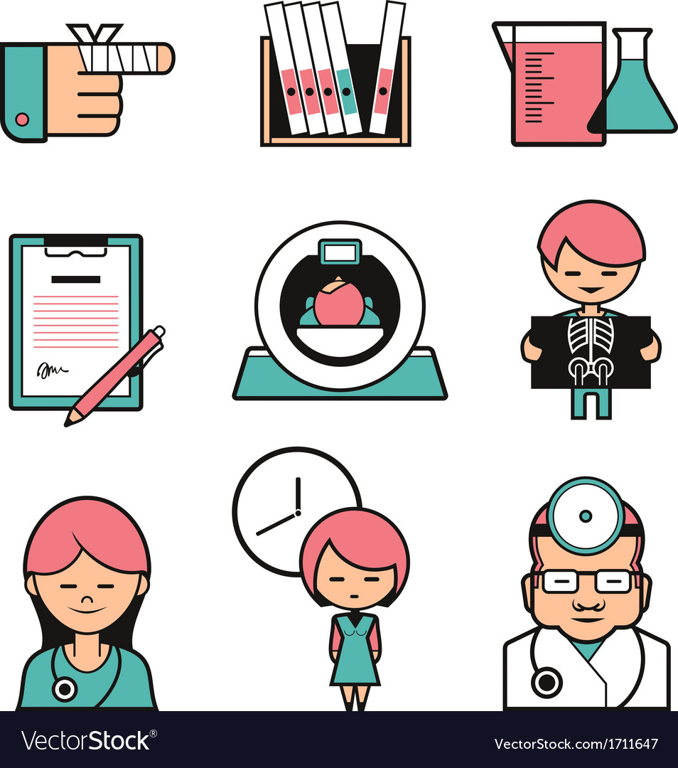 Medical color icons vector | Price: 1 Credit (USD $1)