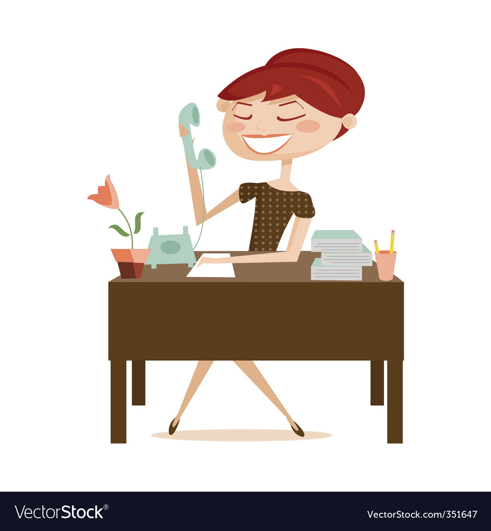 Office lady vector | Price: 3 Credit (USD $3)