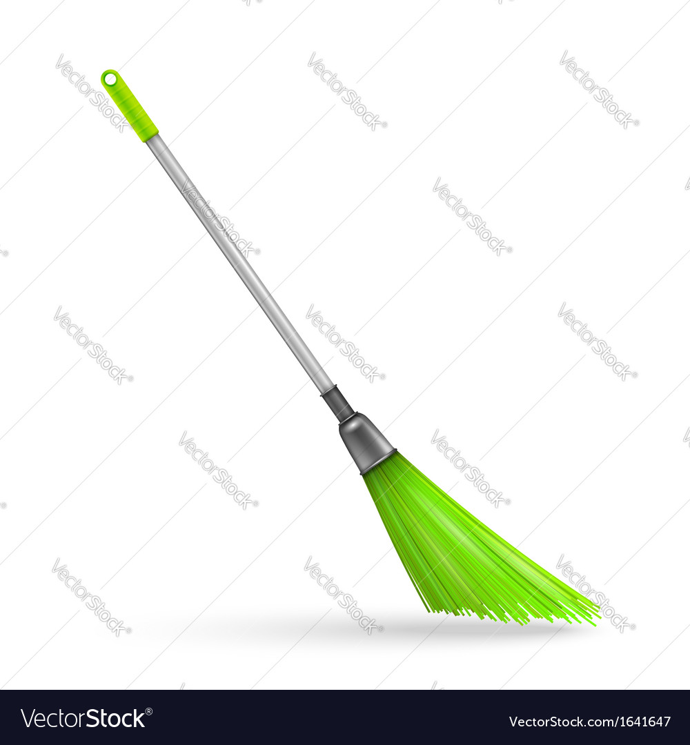 Plastic garden broom vector | Price: 1 Credit (USD $1)