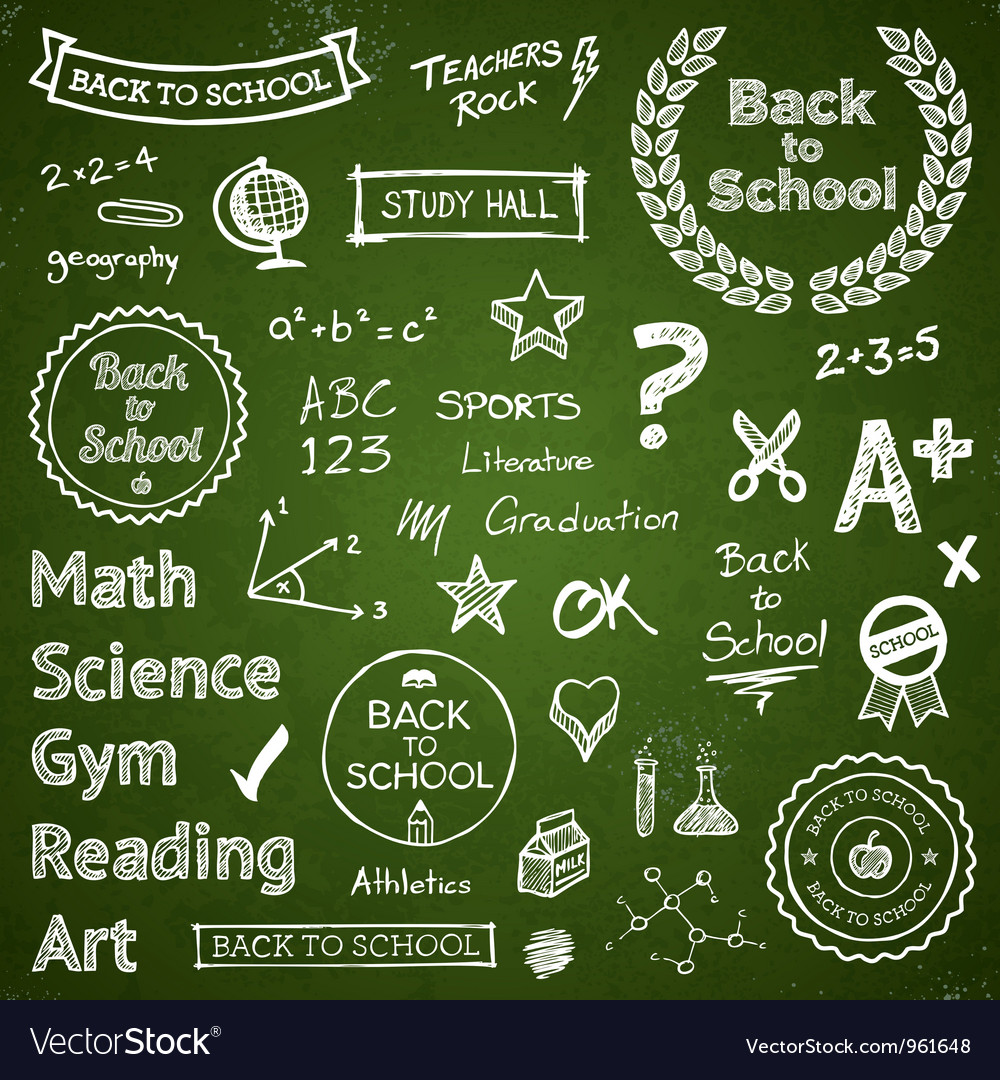 Back to school elements vector | Price: 3 Credit (USD $3)