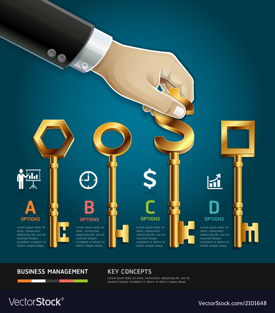 Businessman hand with key concept vector | Price: 1 Credit (USD $1)