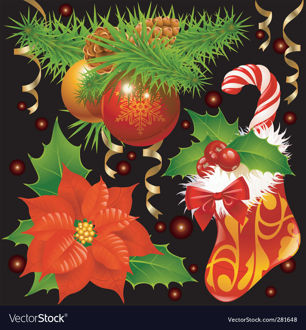 Christmas decoration vector | Price: 3 Credit (USD $3)