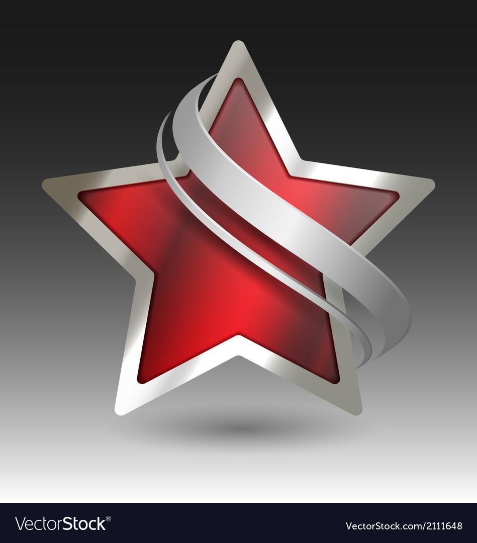 Elegant metallic star embleme with embellishment vector | Price: 1 Credit (USD $1)