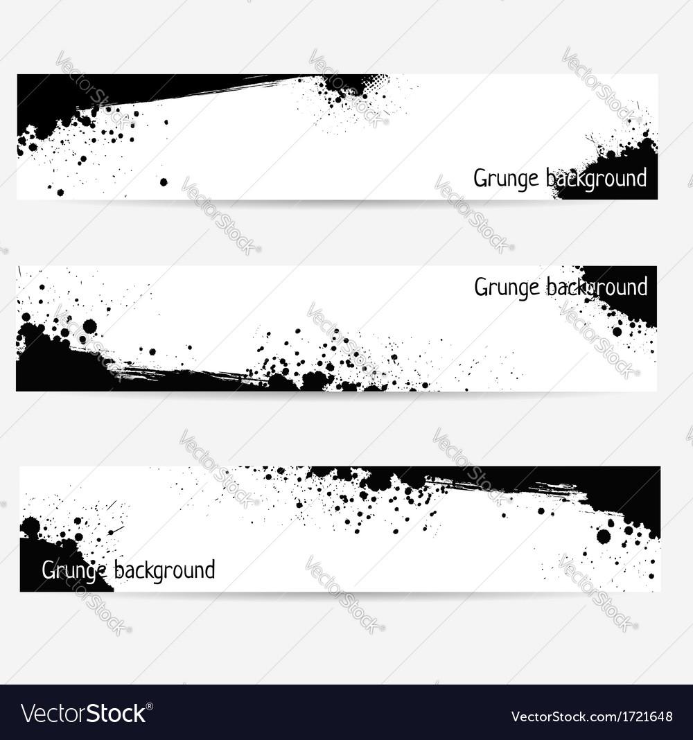 Grunge banner set vector | Price: 1 Credit (USD $1)