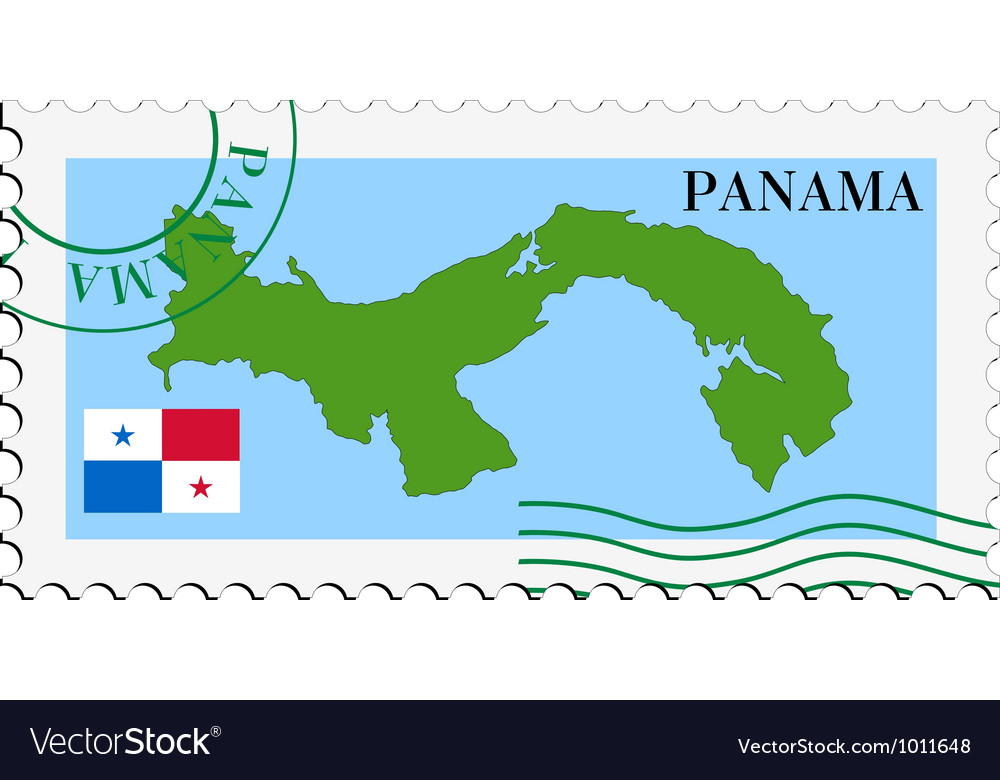 Mail to-from panama vector | Price: 1 Credit (USD $1)