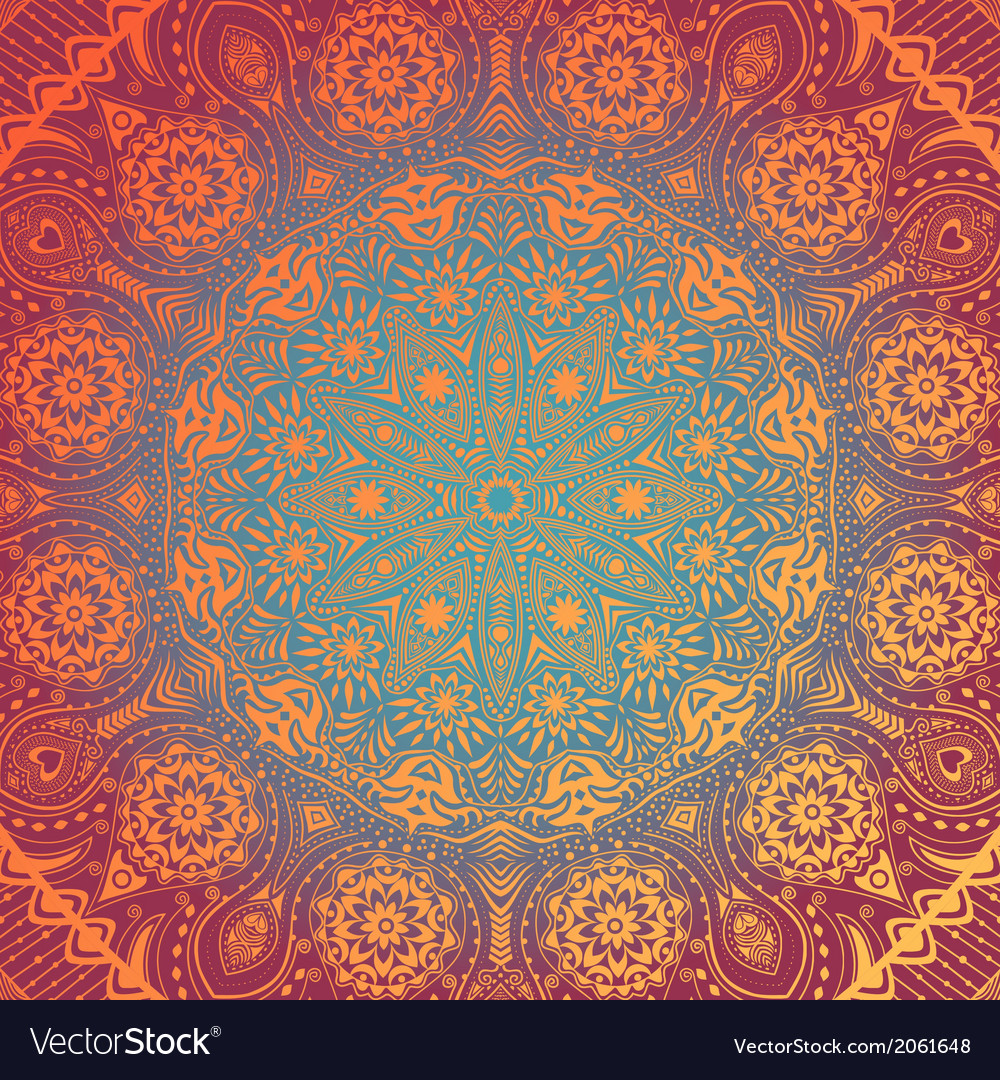 Ornamental lace pattern circle background with vector | Price: 1 Credit (USD $1)