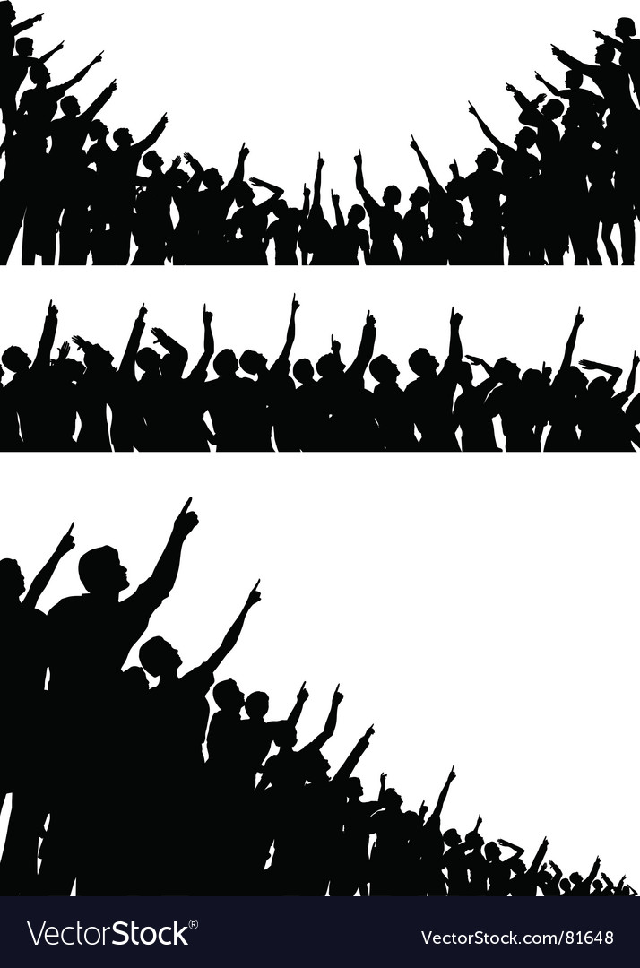 Pointing crowds vector | Price: 1 Credit (USD $1)