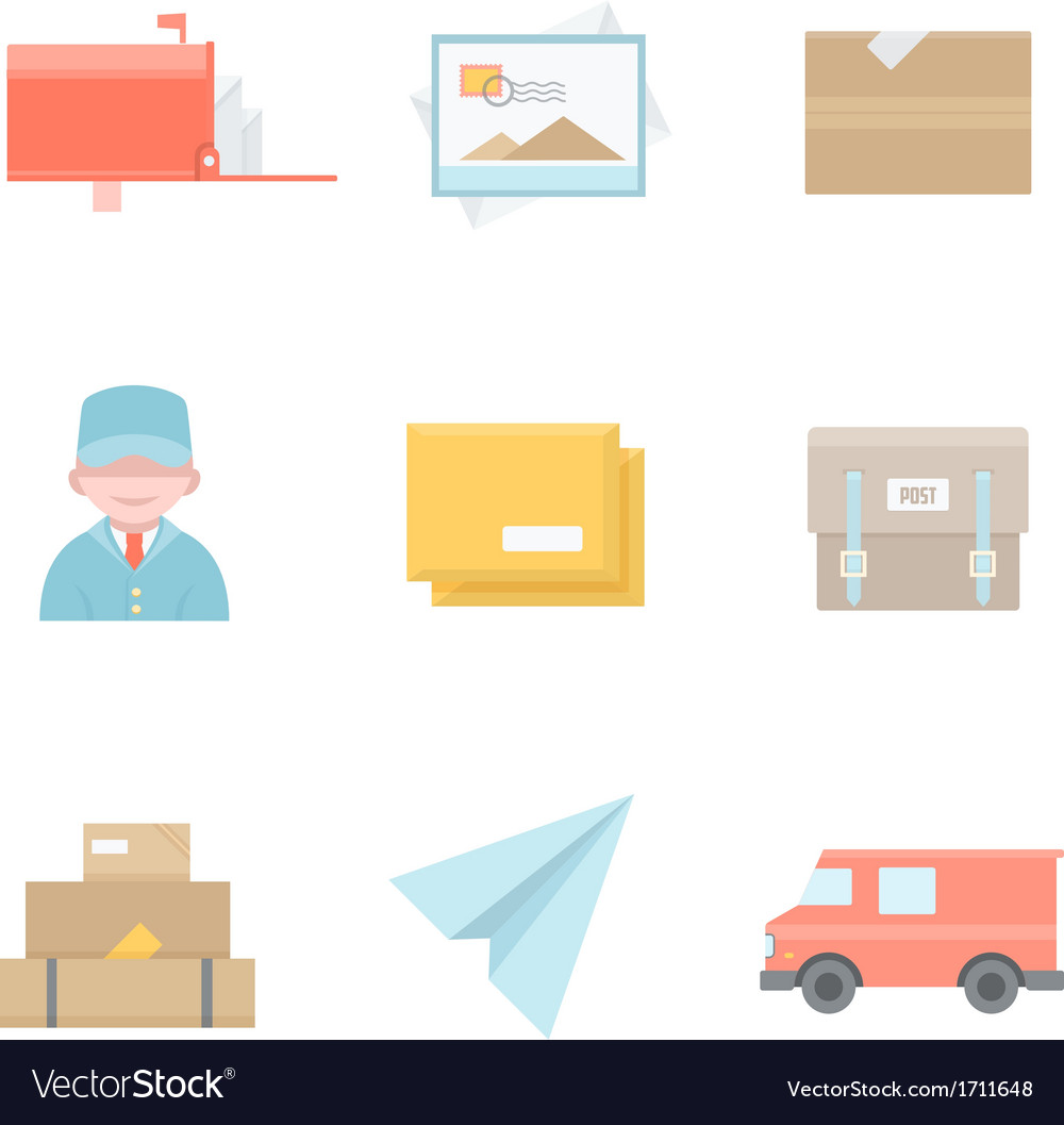 Post office related icons vector | Price: 1 Credit (USD $1)