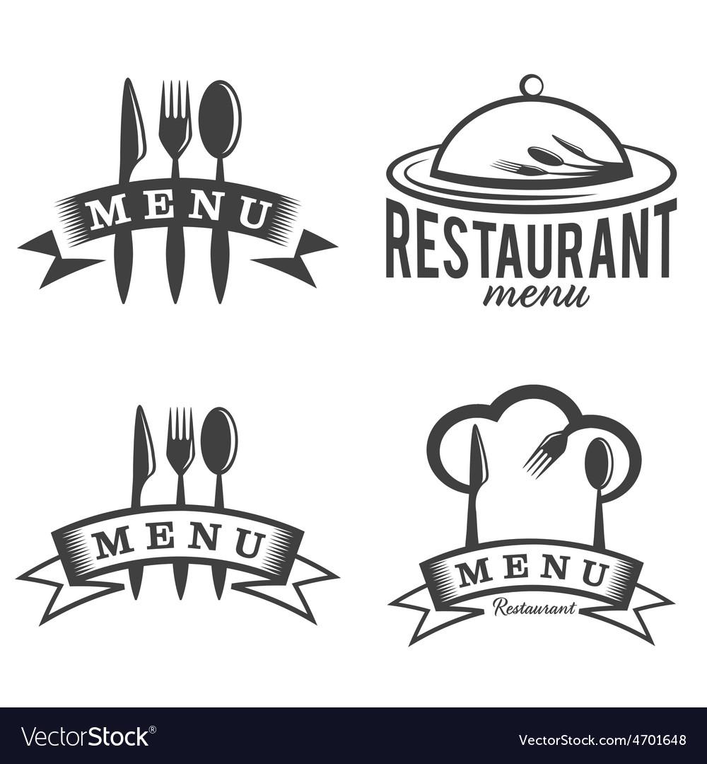 Restaurant and menu elements set vector | Price: 1 Credit (USD $1)