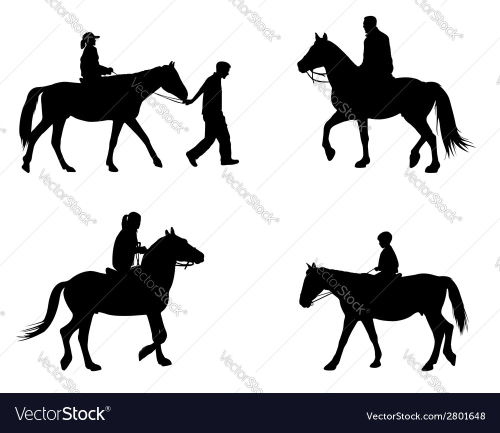 Riding horses vector   Price: 1 Credit (USD $1)