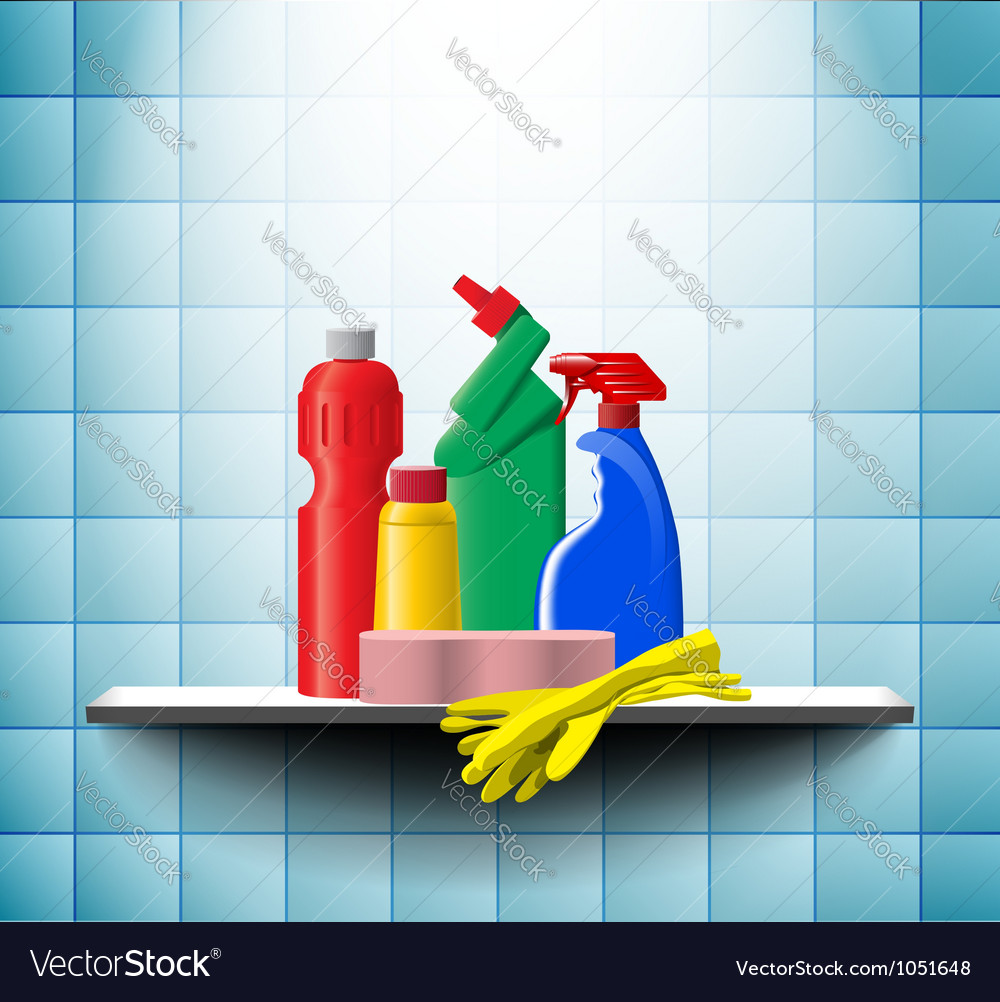 Shelf with detergents vector | Price: 1 Credit (USD $1)