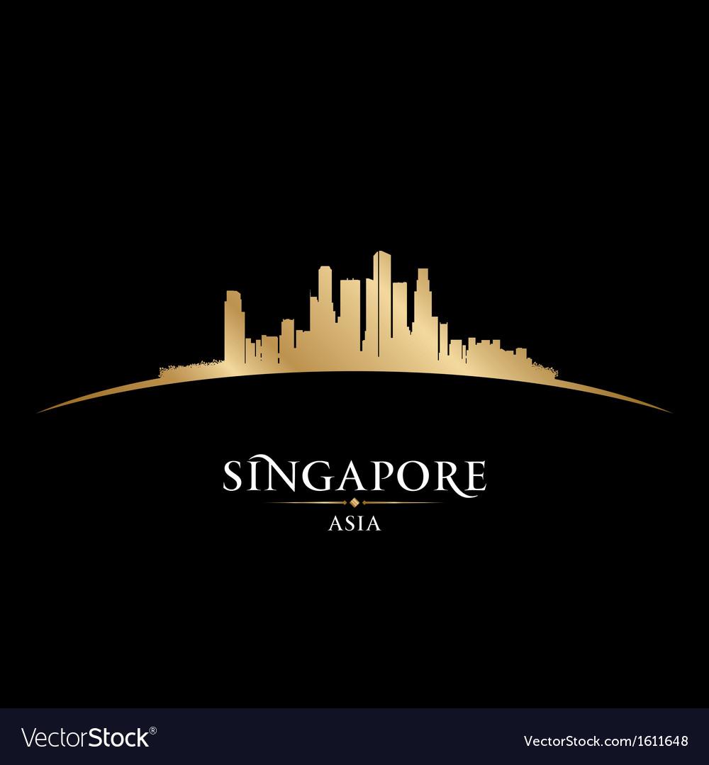 Singapore asia city skyline silhouette vector | Price: 1 Credit (USD $1)