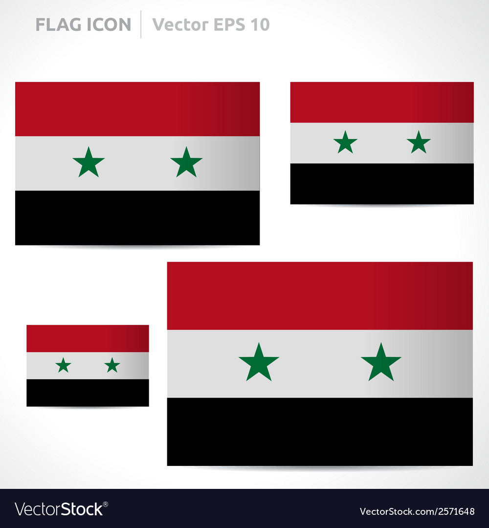 Syria flag template vector | Price: 1 Credit (USD $1)