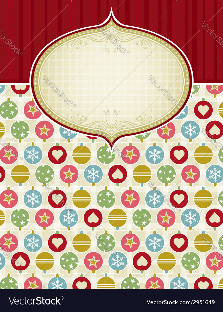 Beige background with christmas balls vector | Price: 1 Credit (USD $1)
