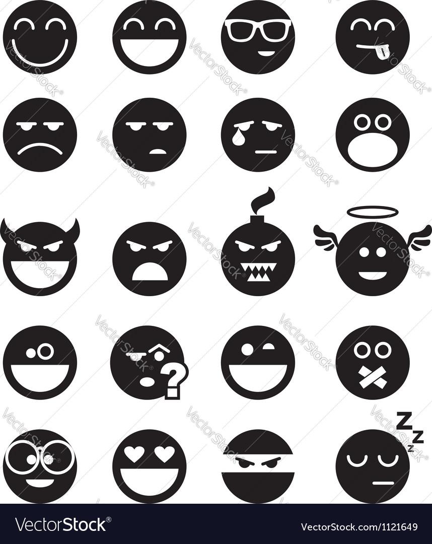 Black smiles vector | Price: 1 Credit (USD $1)